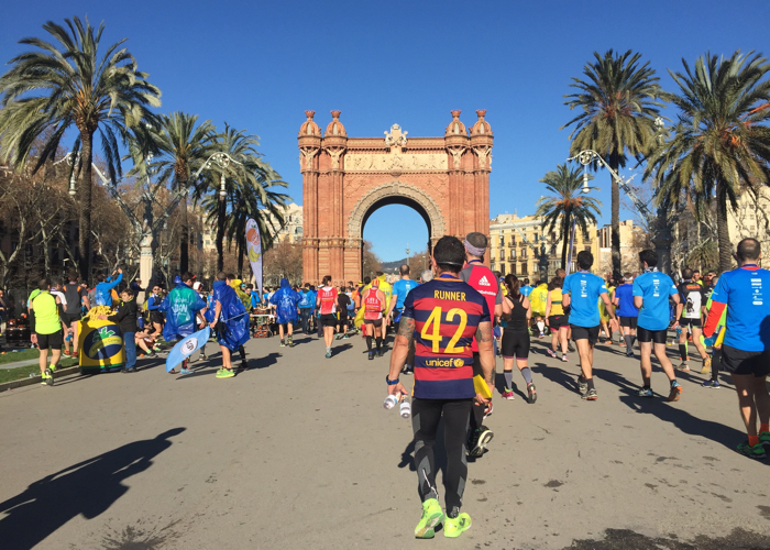 Arc de Triomf finish marathon Barcelona