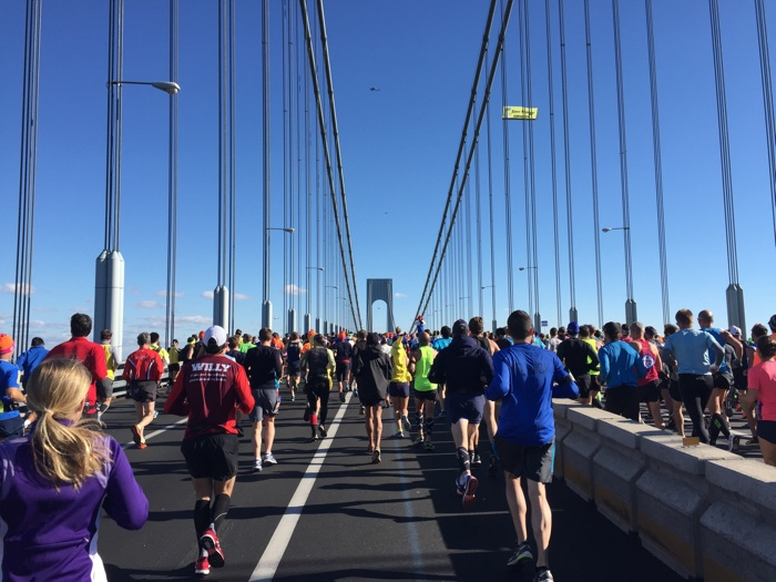 start NY marathon bij verrazano bridge