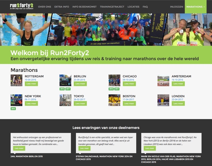 Run2forty2 website