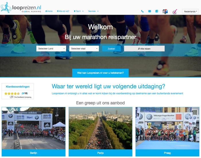 loopreizen.nl website