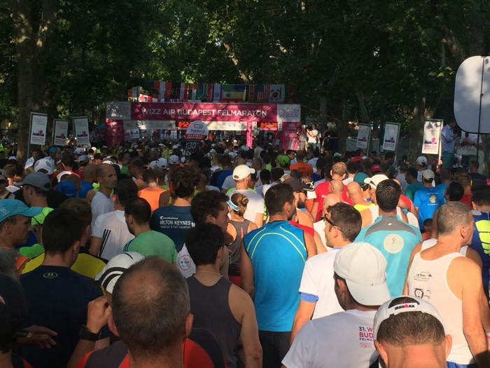 start halve marathon boedapest