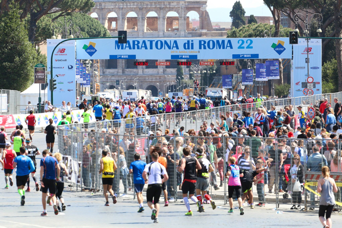 marathon van rome finish