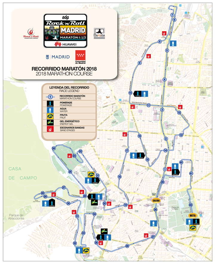 parcours marathon van madrid