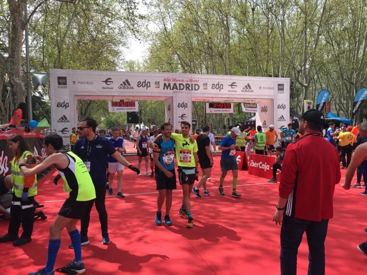 finish madrid marathon