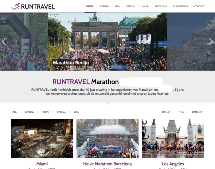 Runtravel.nl website