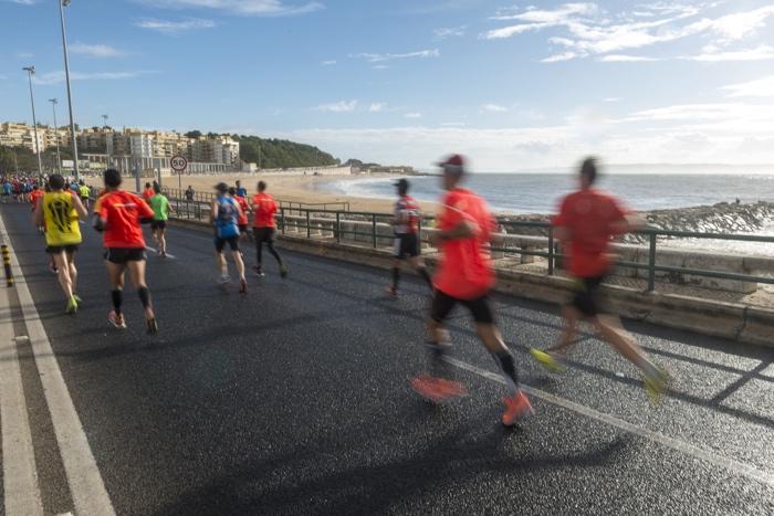 marathon van lissabon zee