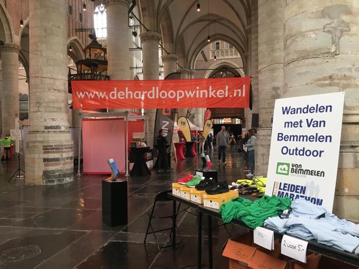 Kleine marathon-expo, eveneens in de Pieterskerk