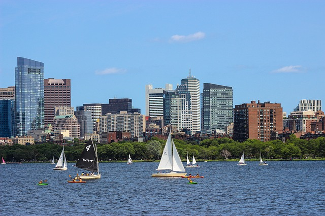 marathonreis naar boston skyline