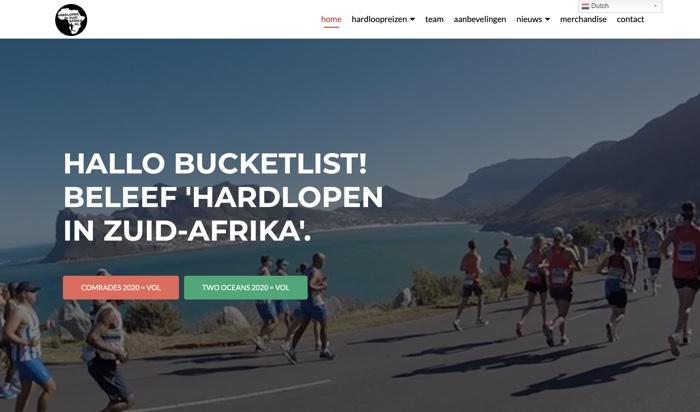 hardlopen in Zuid-Afrika
