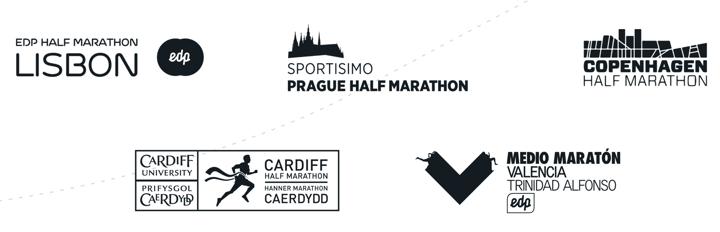 logos halve marathon lissabon cardiff valencia kopenhagen praag