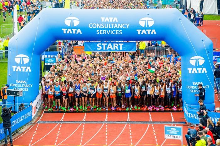 De start van de Marathon