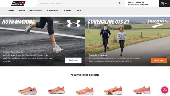 website van All4running.nl